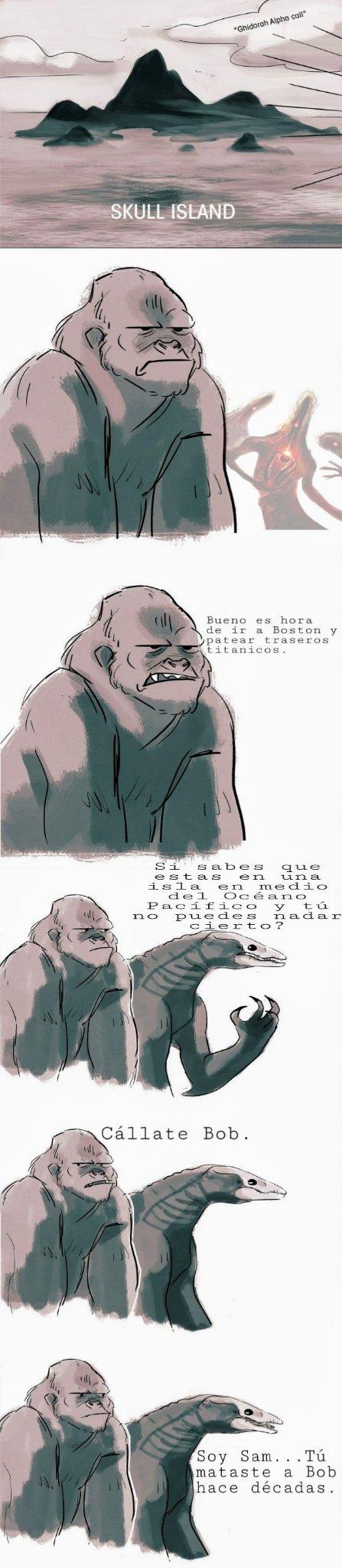 Spoiler de Godzilla KOTM. - meme