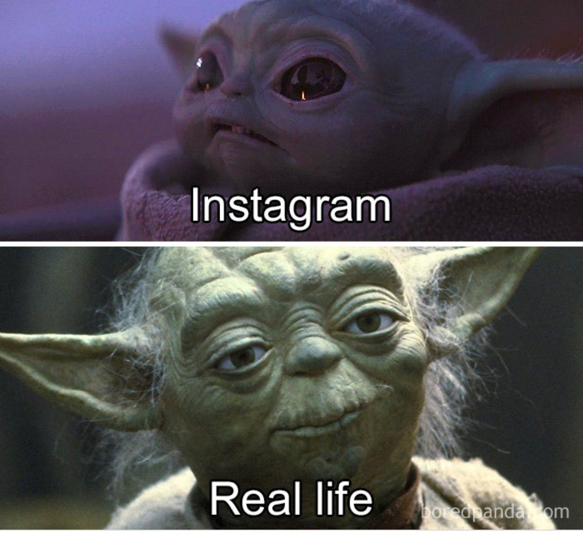 Very True Instagram vs real life - meme