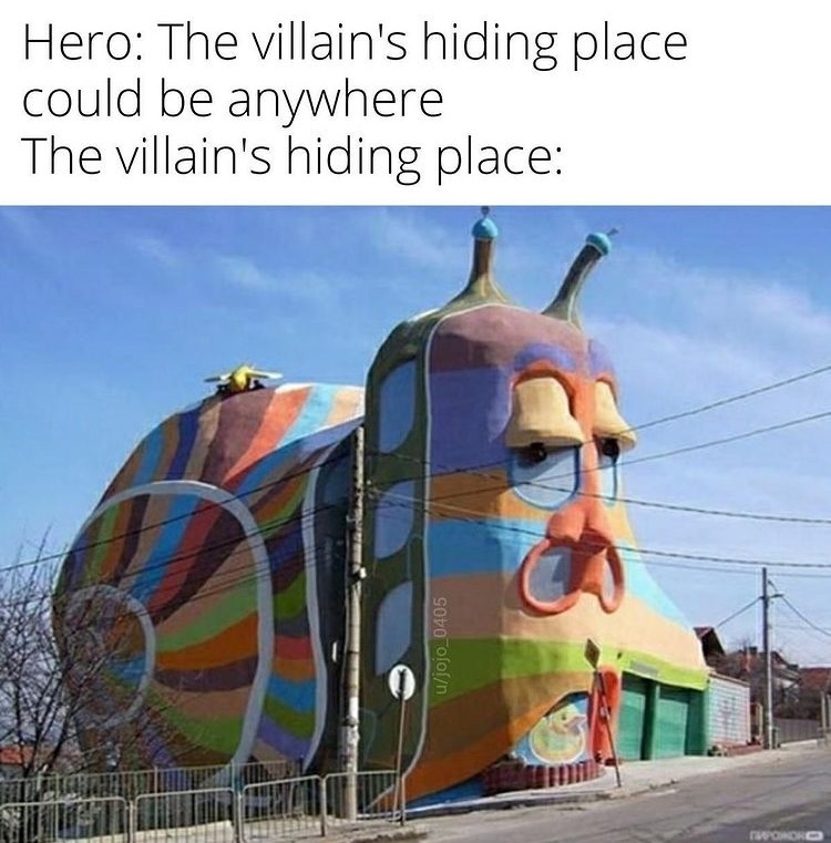 disturbing house - meme