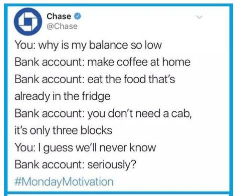 Bank Account ain't kidding - meme