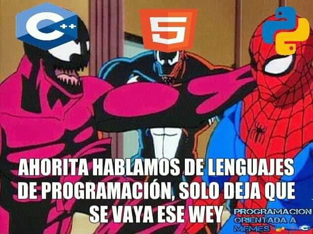 Html no es un lenguaje de programación!!!!! - meme