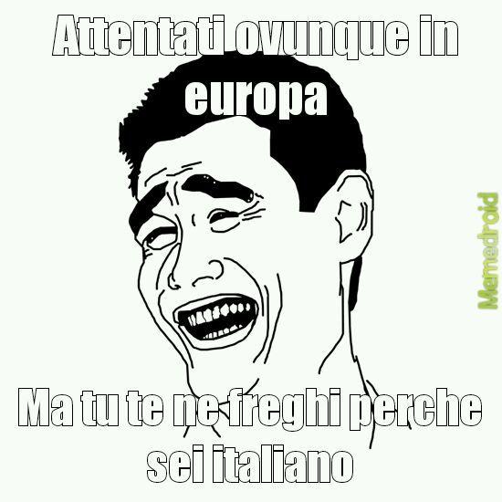 Lasciatemi cantare sono un italiano - meme
