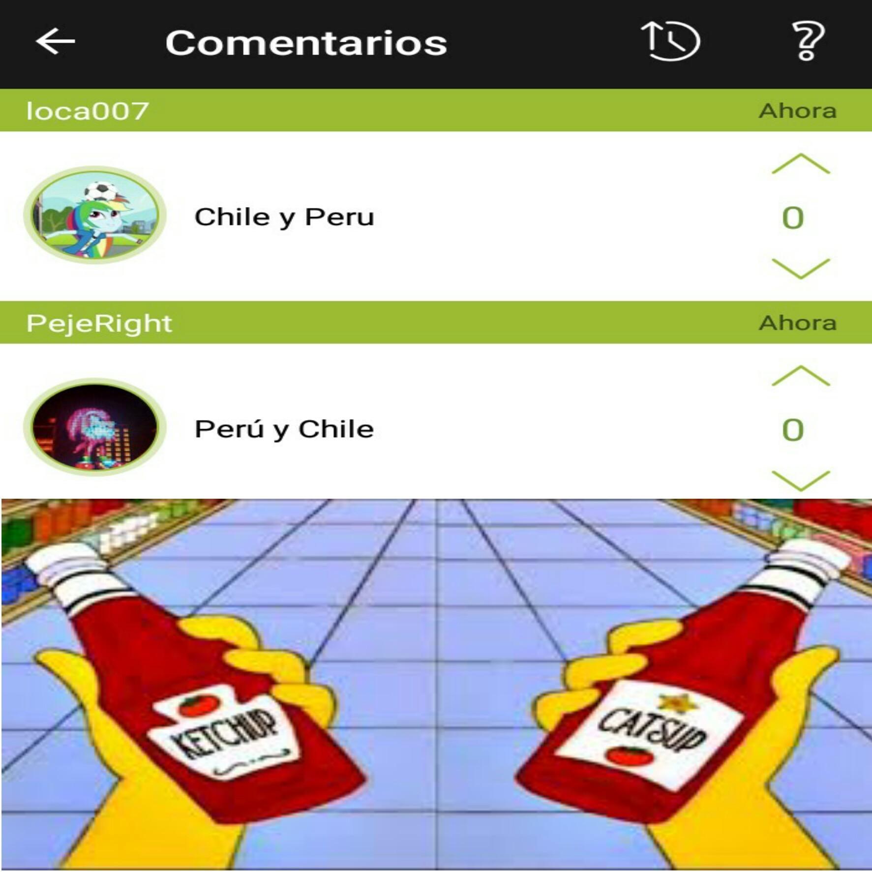 Perú y Chile - meme