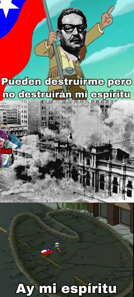 Los memes de Allende son cliché jaja salu2