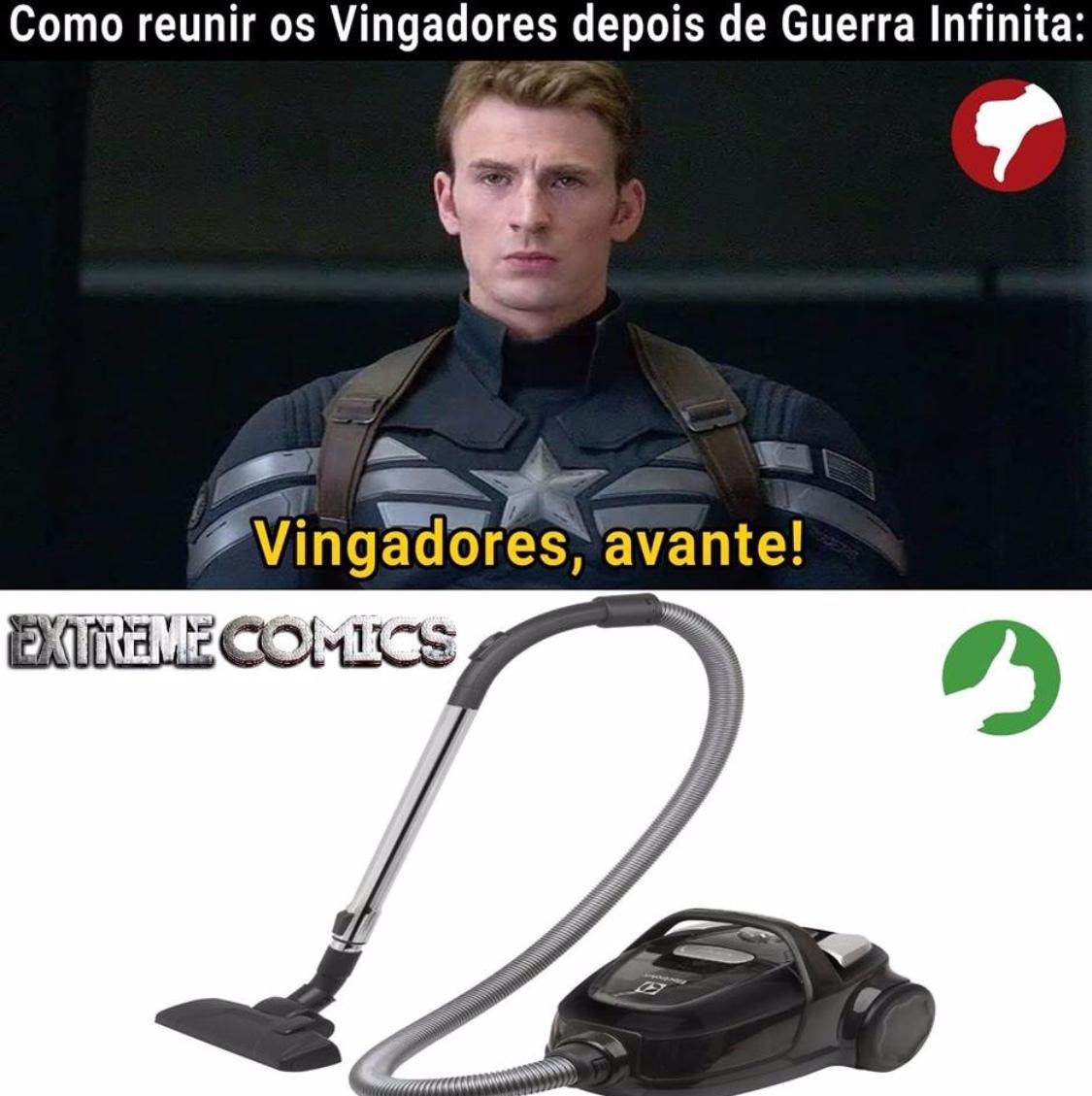 Próximo Vingadores eles vai ser cheirados - meme