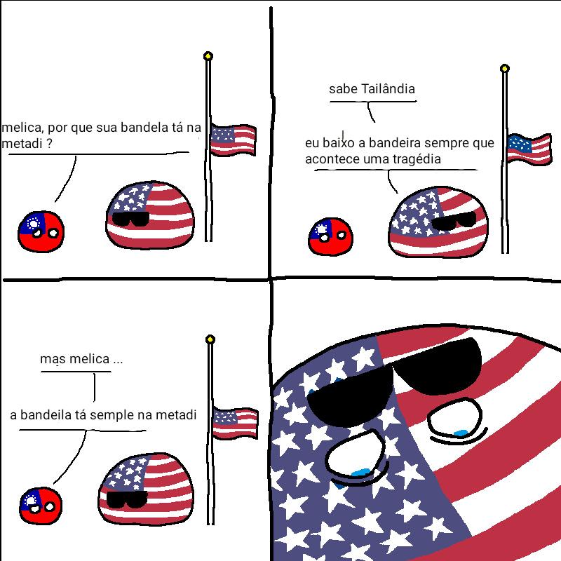 Essas tirinhas dos países são foda. Fonte: 9gag - meme