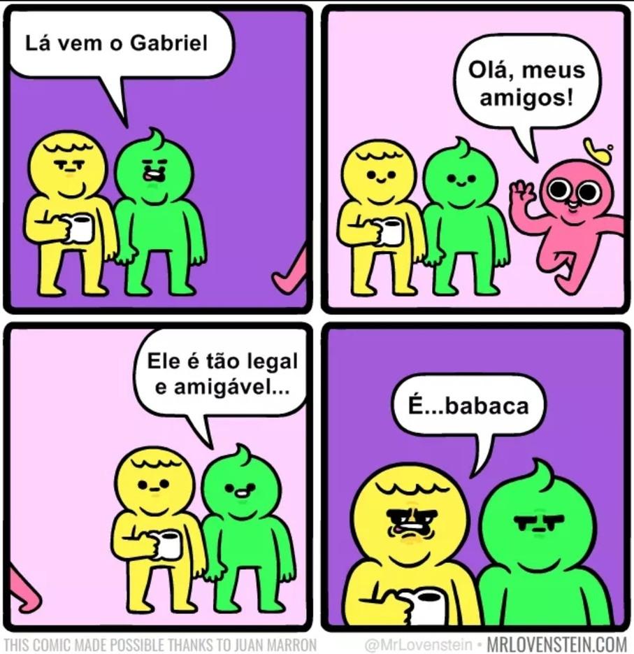 Ah não, o Gabriel - meme