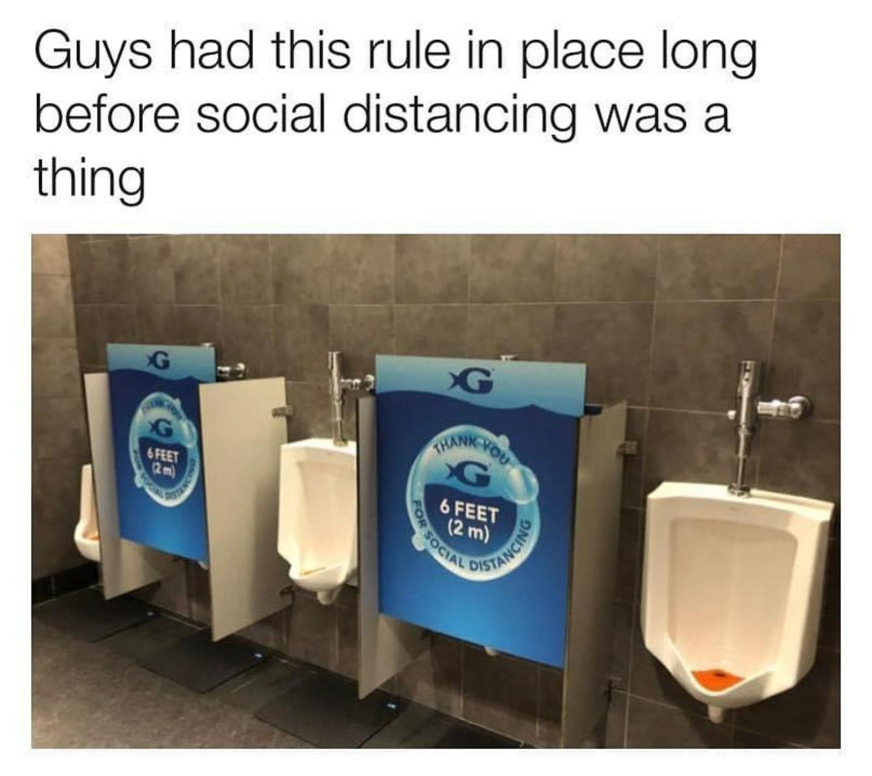 An unspoken rule among men - meme