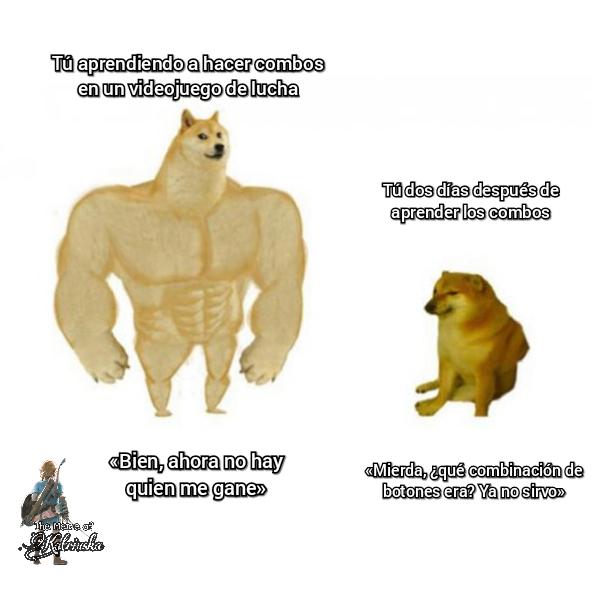 Típico de juegos de lucha - meme