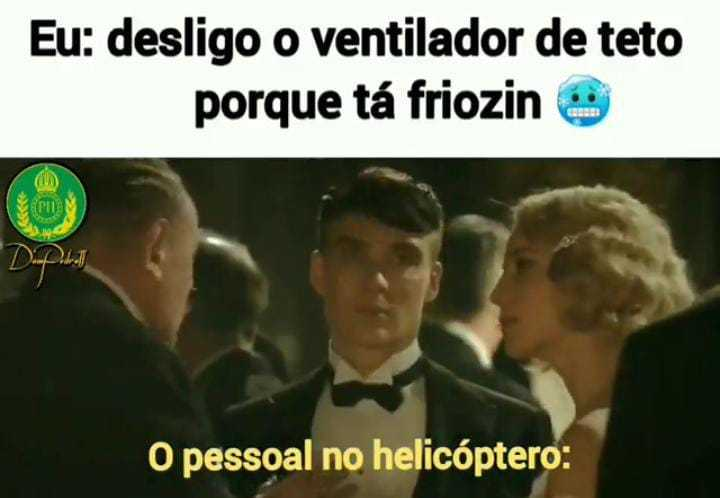 Ventilador de carioca é helicóptero polícial :grin: - meme
