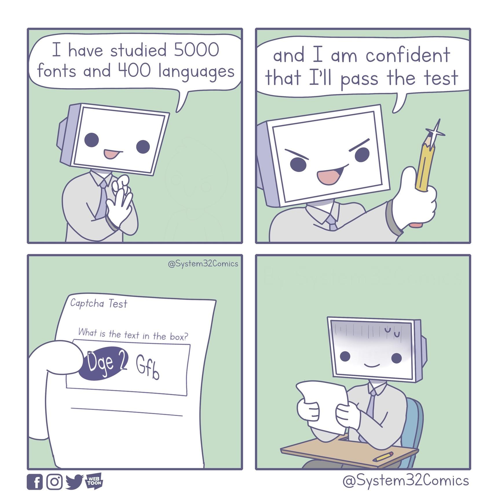 computer test - meme