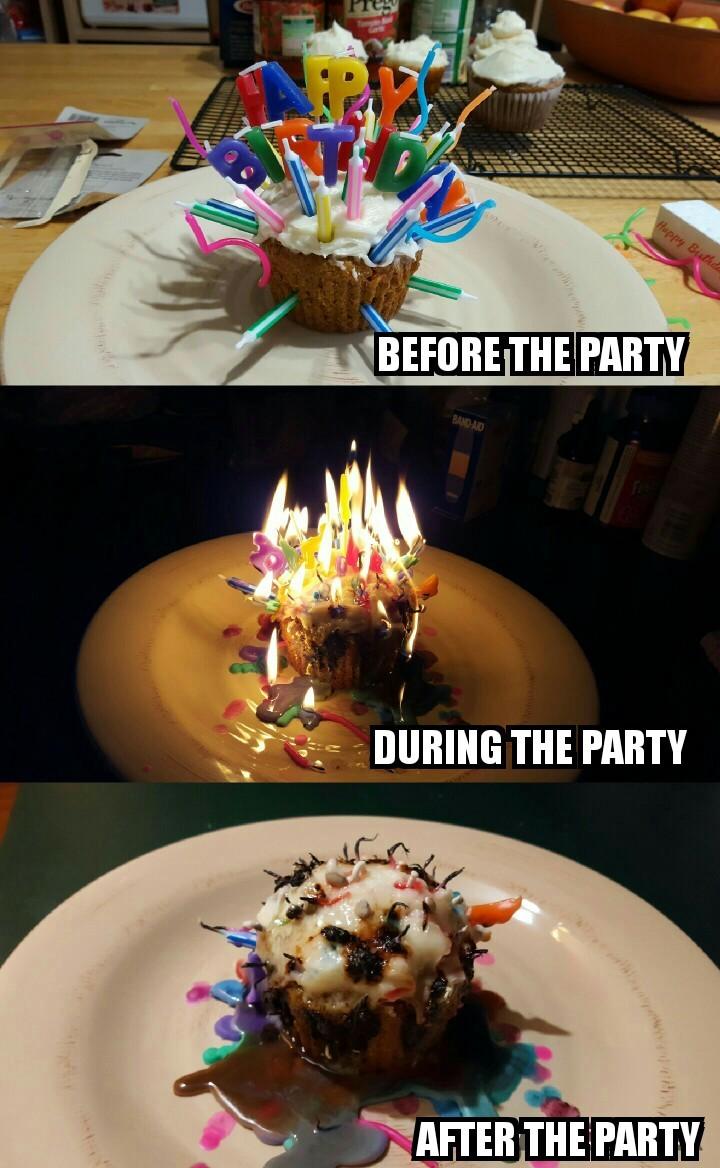 44 candles on that cupcake - meme