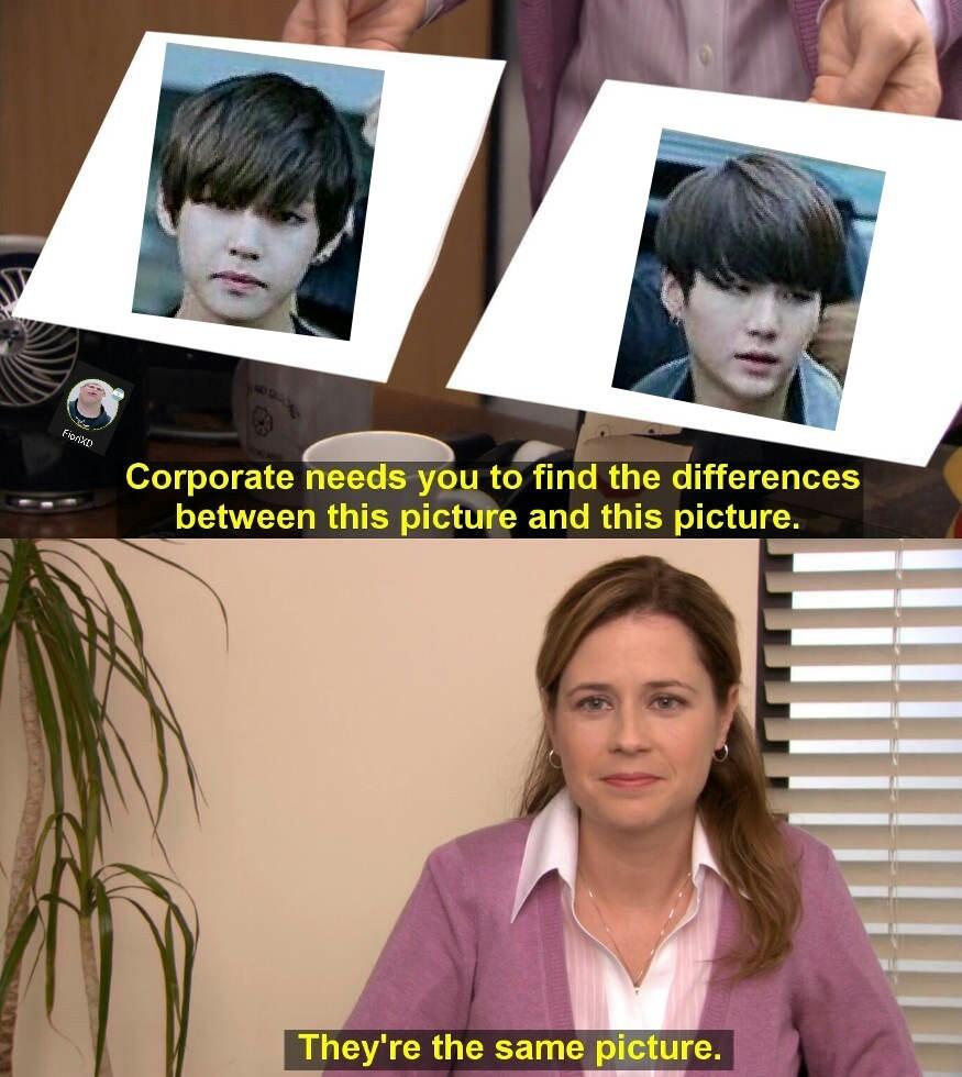 los de BTS - meme
