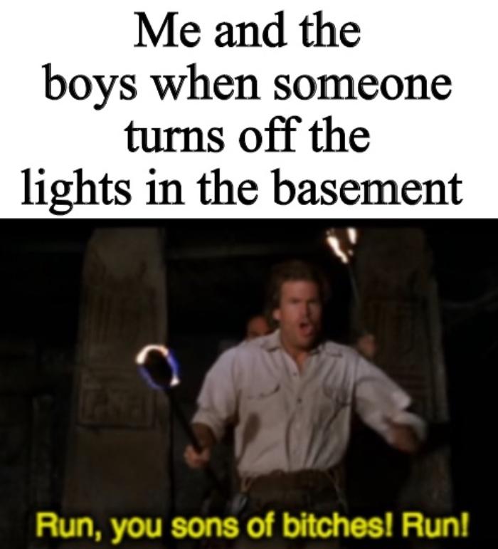 Scary darkness - meme