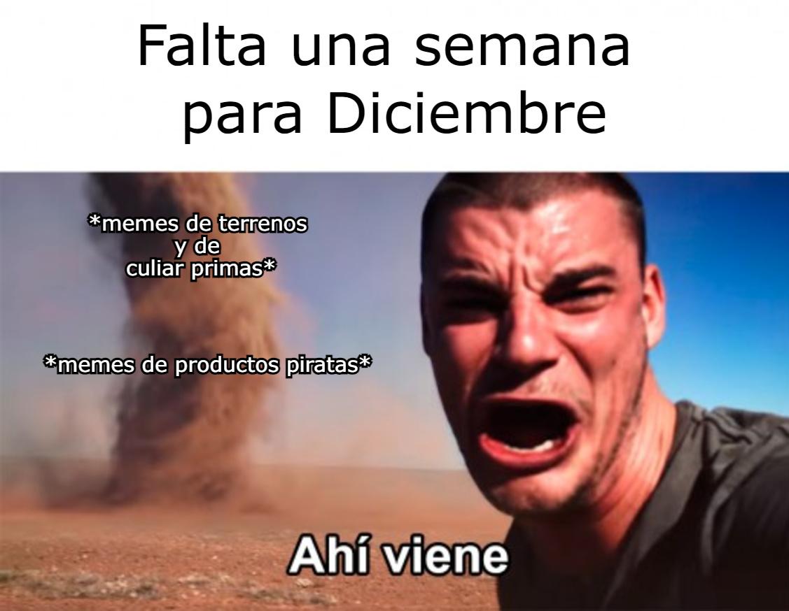 Memes culeros de diciembre