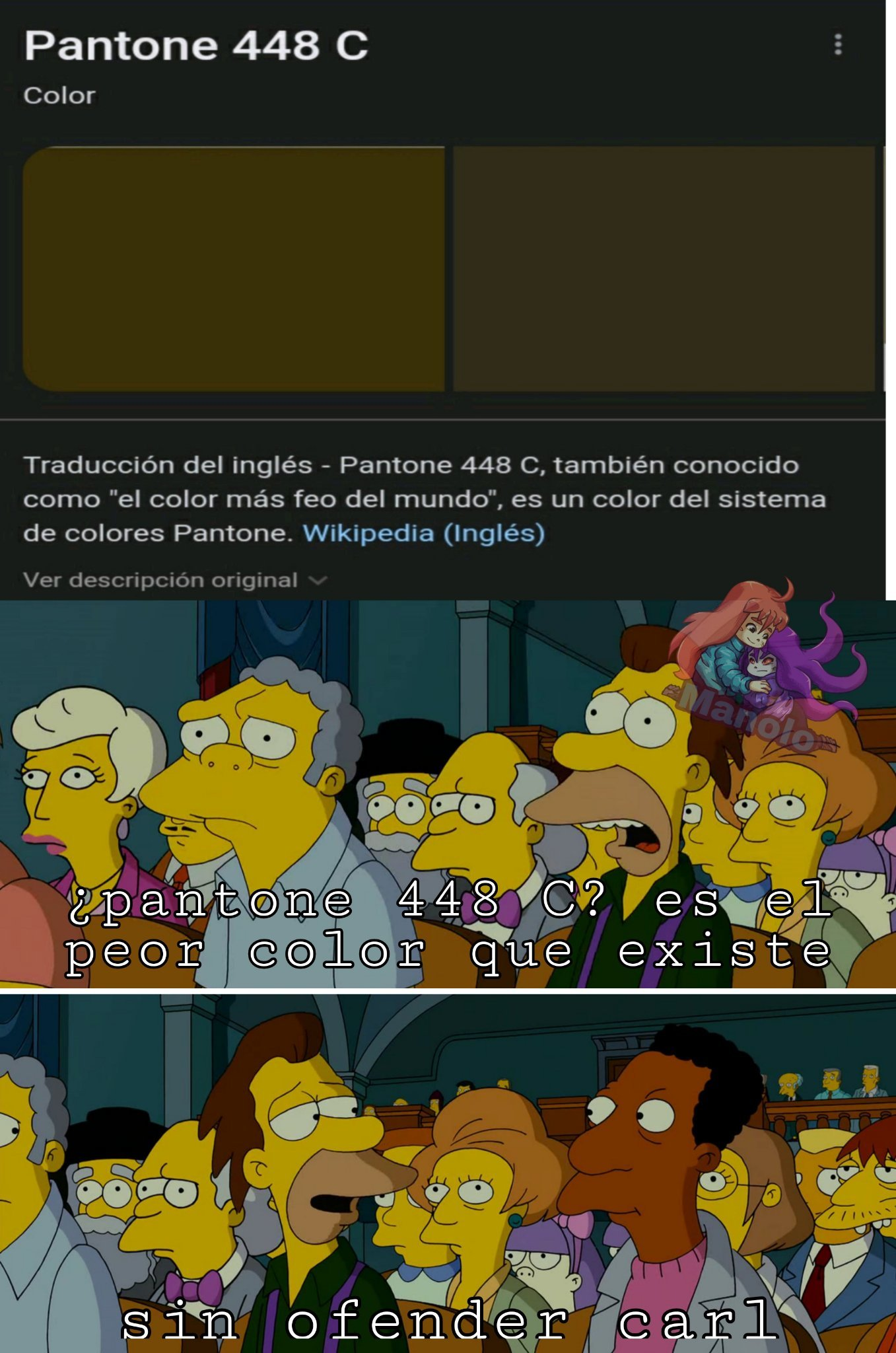 La idea de phantone 448 c lo saque de otro meme