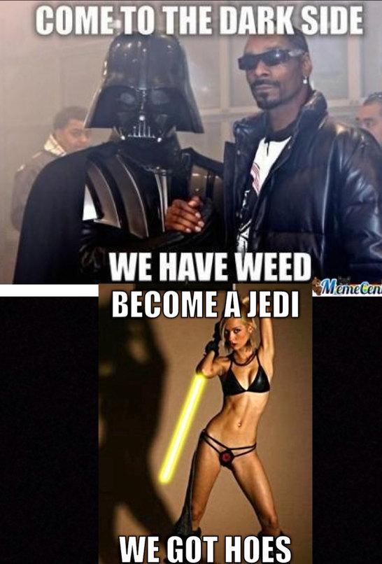 To the Jedi's I go - meme