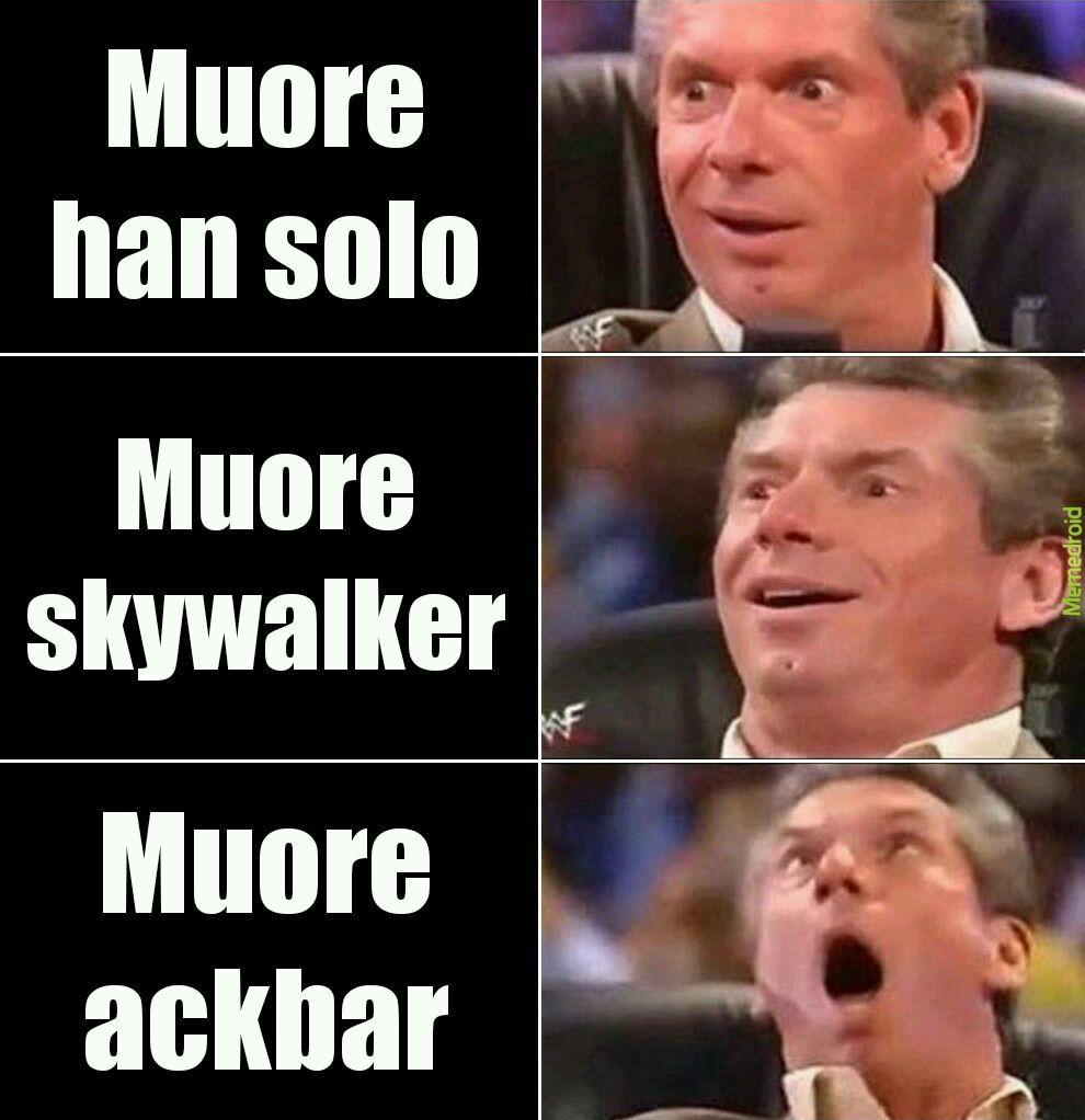 Star wars spoilerrrrr - meme