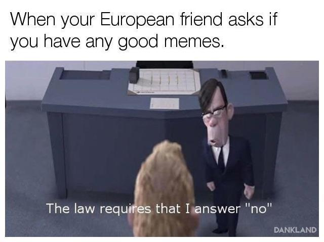 When your European friend asks if you have any good memes