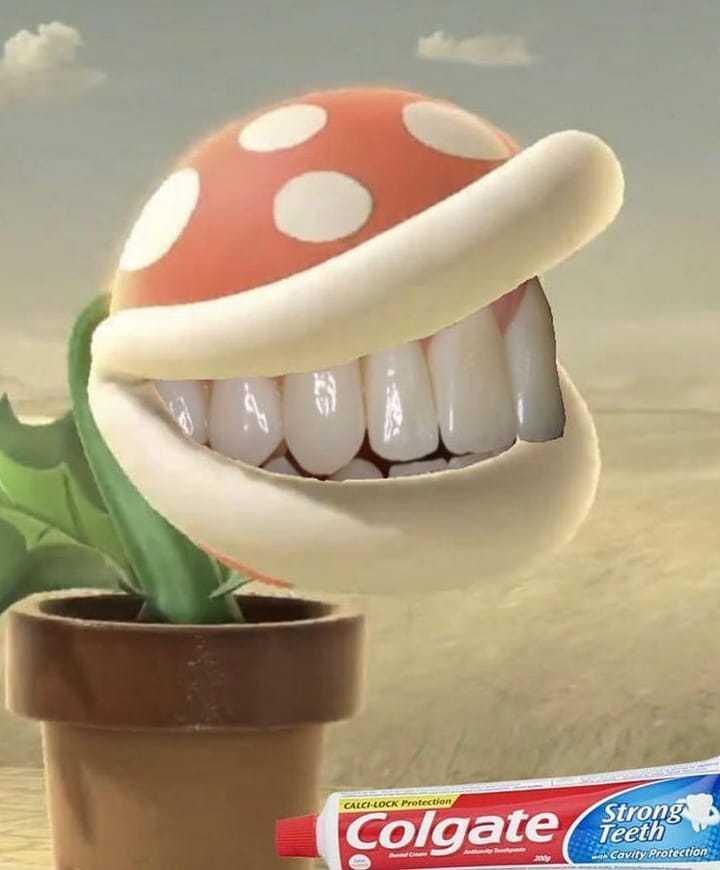 El famoso plante piranha dans Smash bros - meme