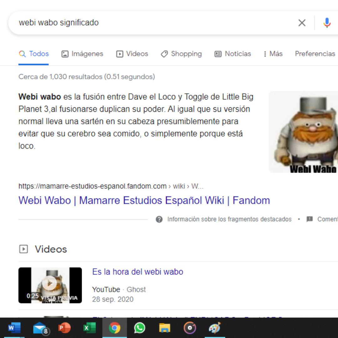 Ayuda me encontre a webi wabo chicos - meme