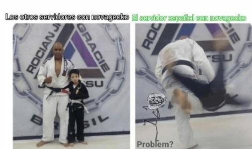Tiene sentido que el servidor español odie a novagarka - meme