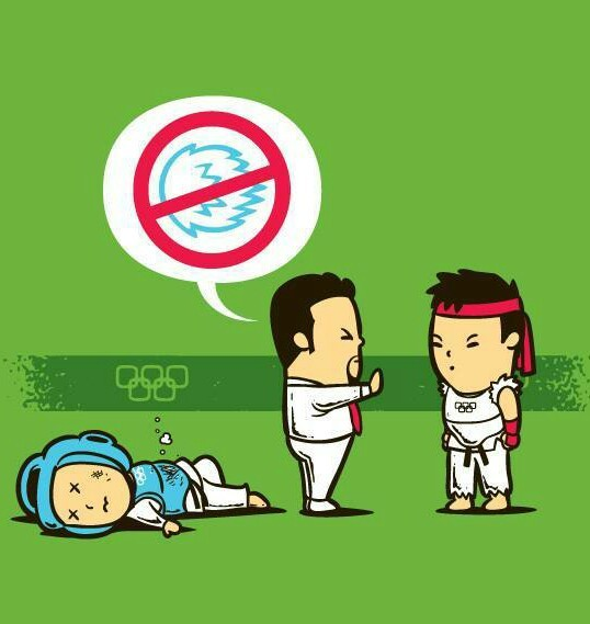 Ryu en los Juegos Olímpicos - meme