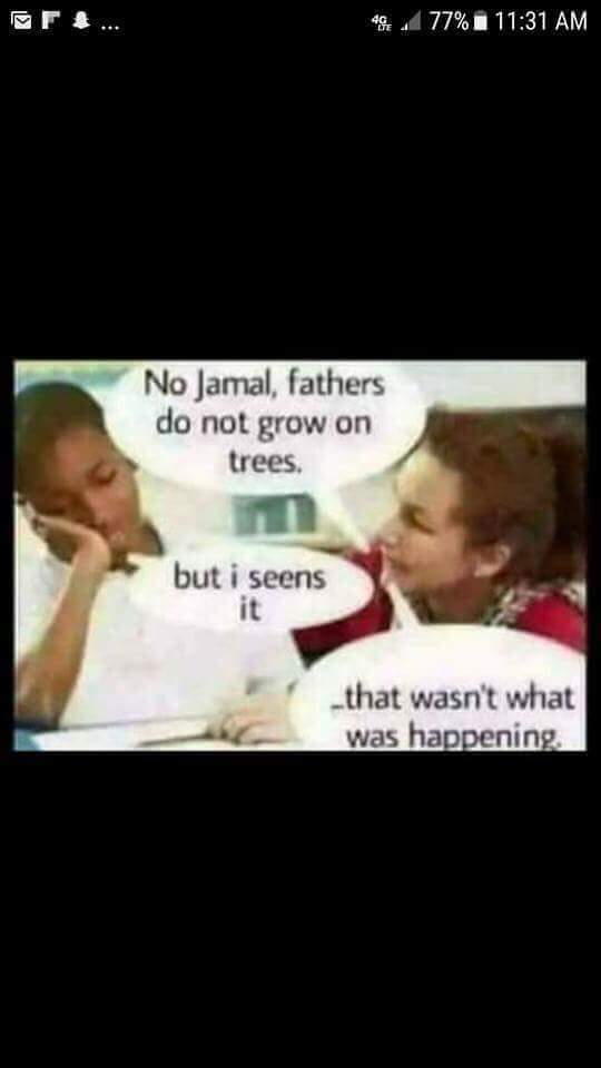 Father's don't grow on trees - meme
