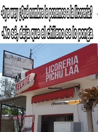 Stos chilenos son unos loquillos - meme