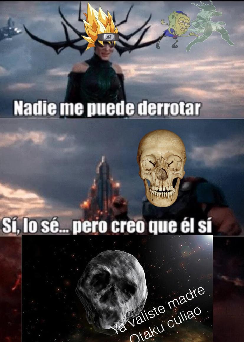 Que venció al esqueleto antiotakus - meme