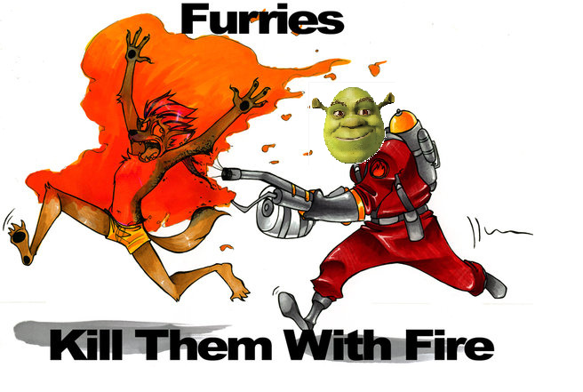 Furros kill them with fire - meme