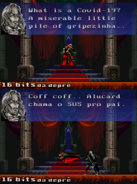 Salva o pai, Alucard - meme