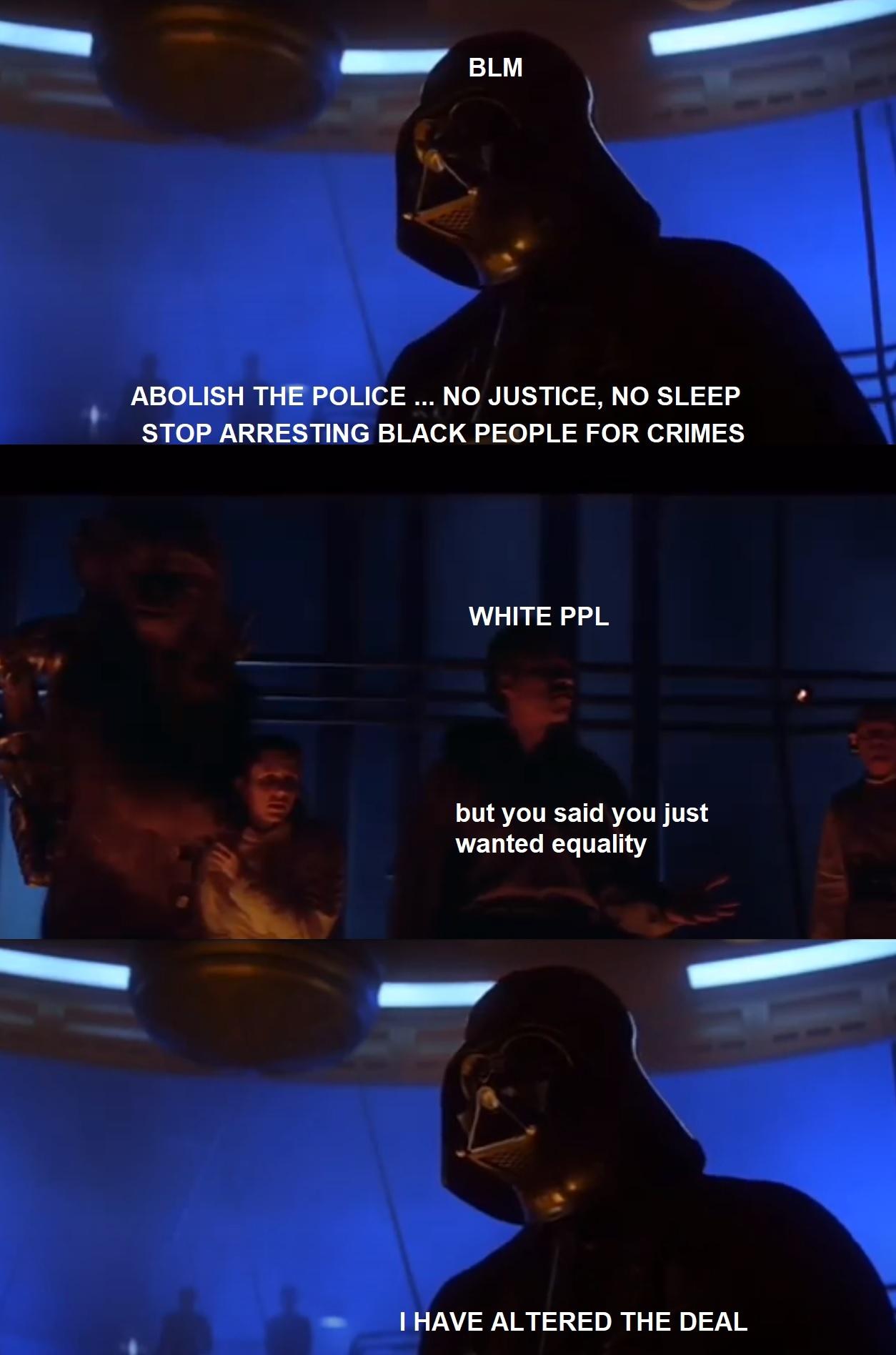 No lives matter, obviously - meme