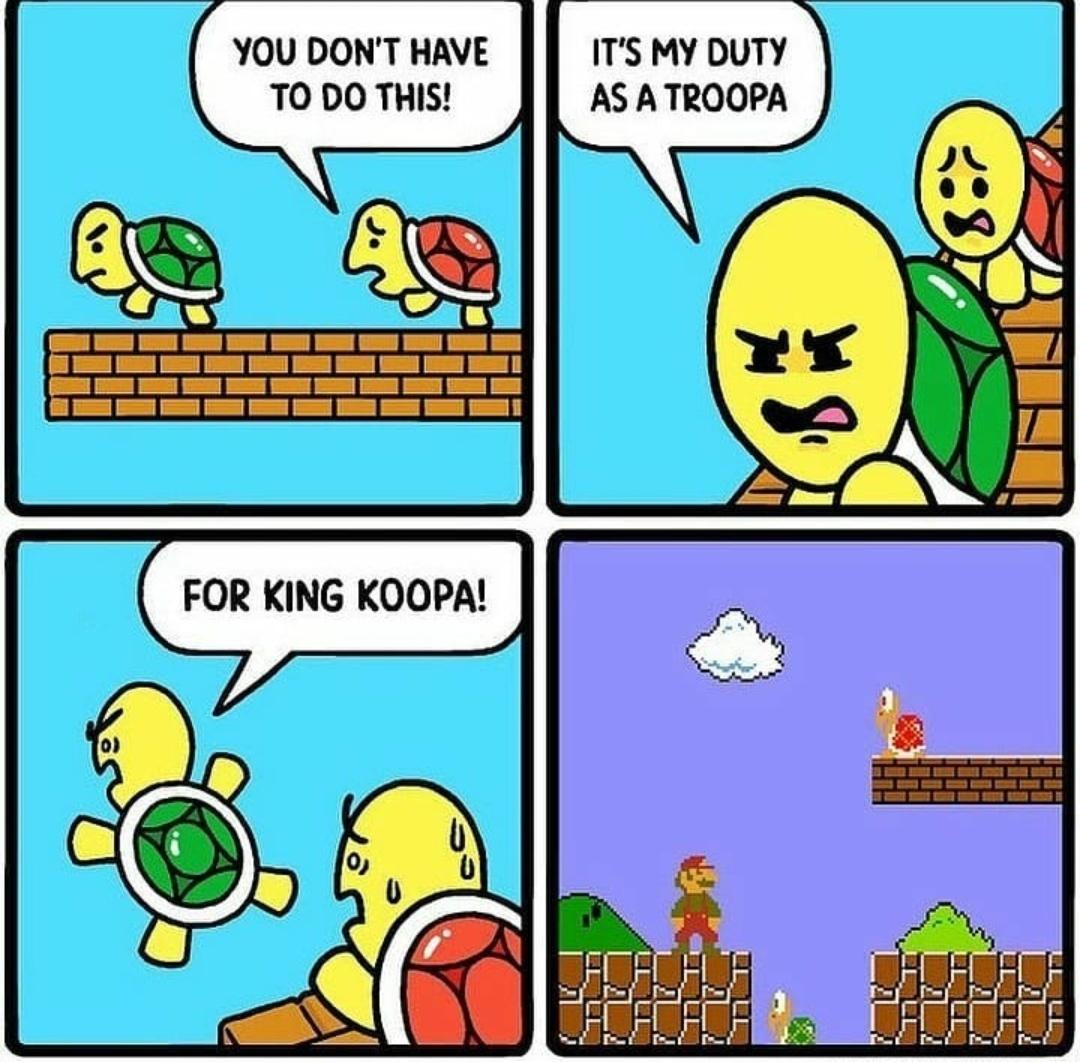 All for king koopa - meme