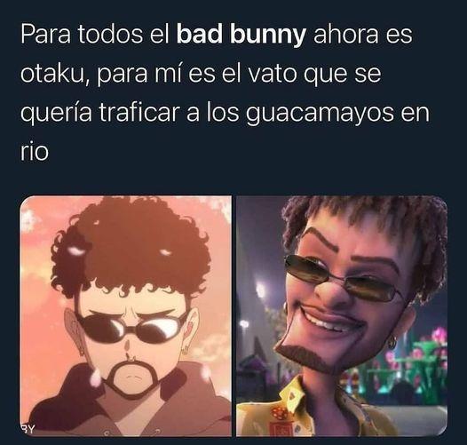 bad bunny otaku - meme