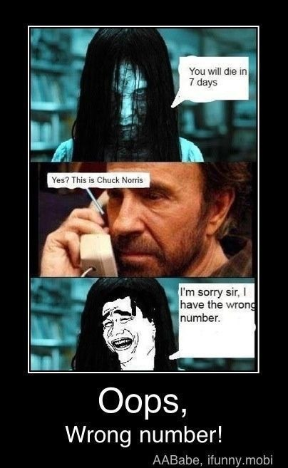 Monsters look under their bed for Chuck Norris! - meme