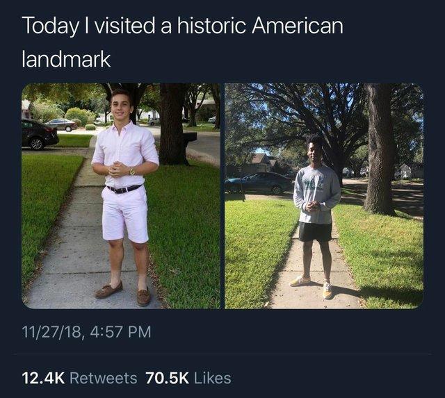 Today I visited a history American landmark - meme