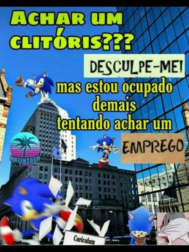 Ta dificil até pro sonic a situação no brasil - meme