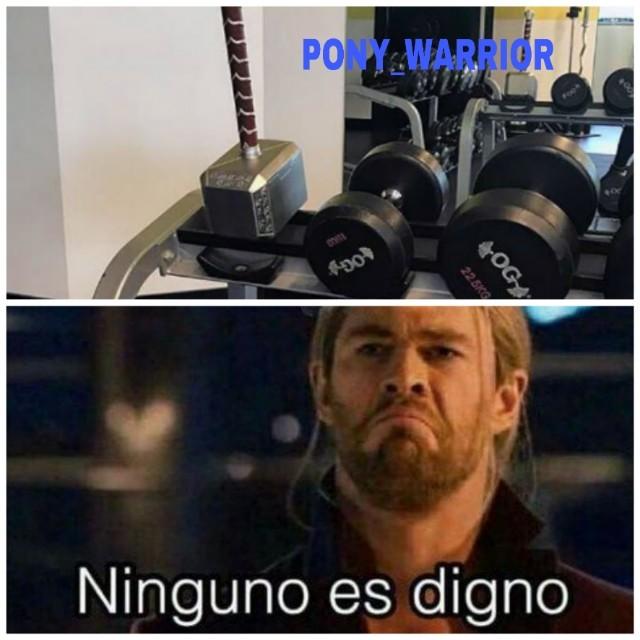 El gym de thor - meme