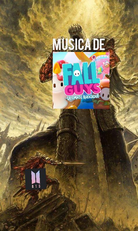 Re chida la musica de fall guys - meme