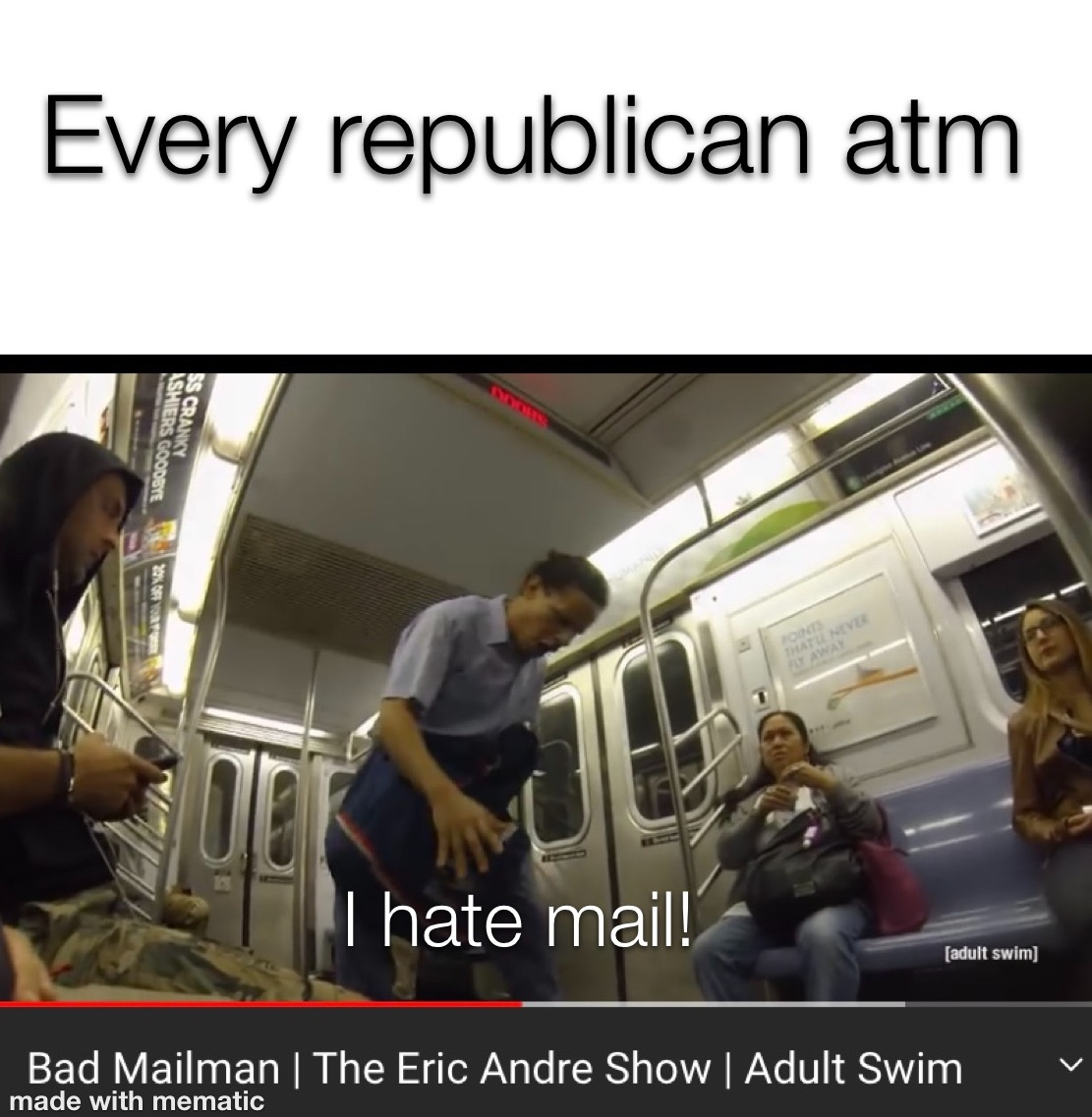 he hates mail - meme