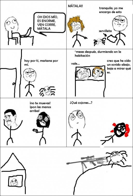 desde entonces no mato arañas - meme