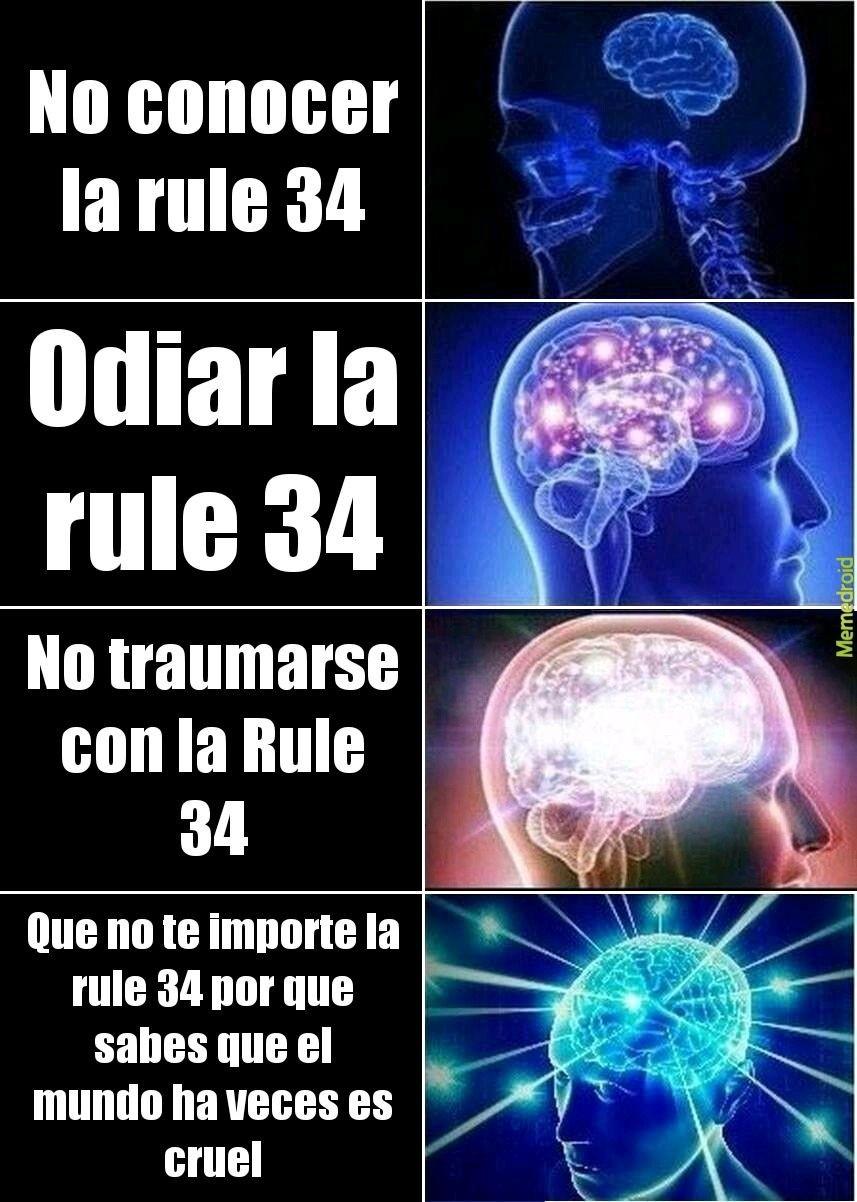 Ya se que los memes de la Rule 34 están sobre explotados pero tenía que hacerlo