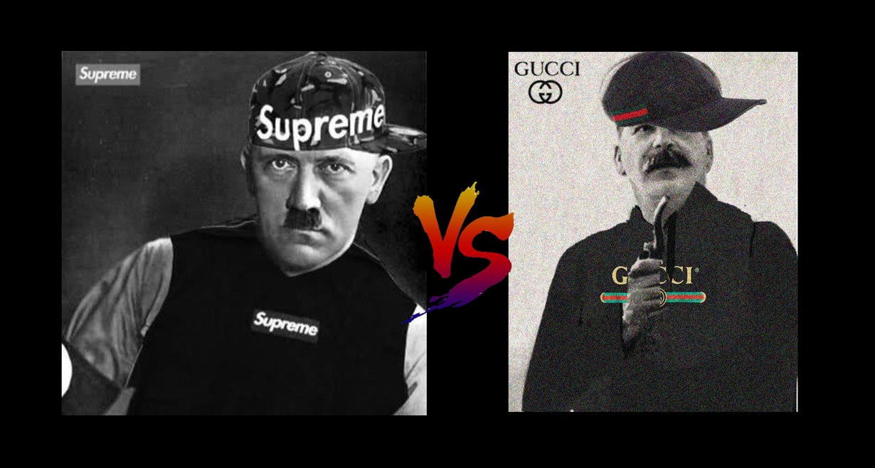 hitler supreme vs stalin gucci - meme