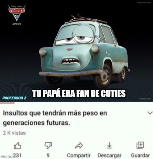 Imagen de cars 2 para la siguiente generación - meme