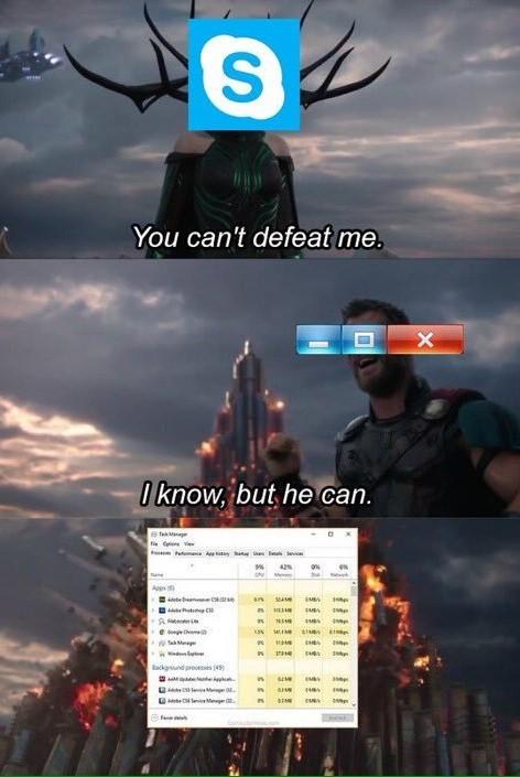 Skype - meme