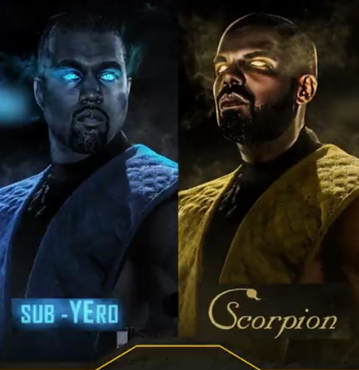 There's only one way to settle Drake v.s. Kanye beef - meme