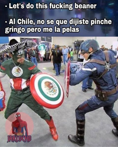 Captain America v.s Capitan Mexico - meme