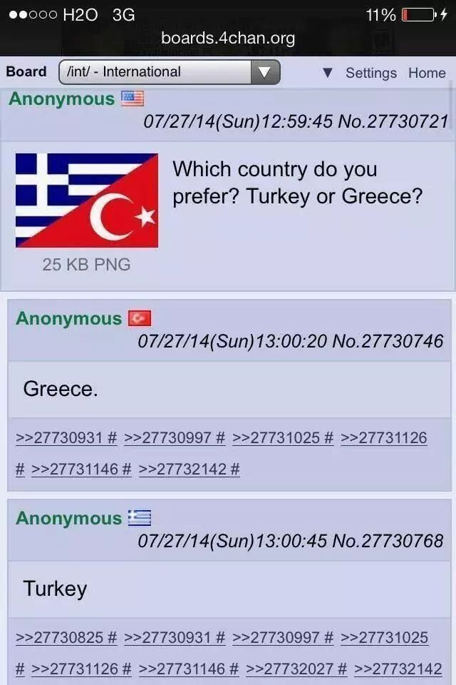 I prefer Greece. - meme