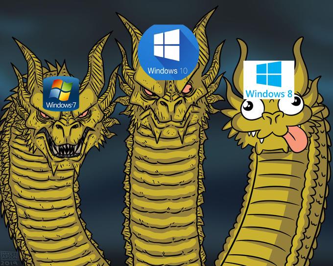 Este meme no trata de ofender a los usuarios de Windows 8.